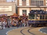 諏訪神社の山車と江ノ電10形