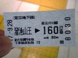 東京メトロの切符
