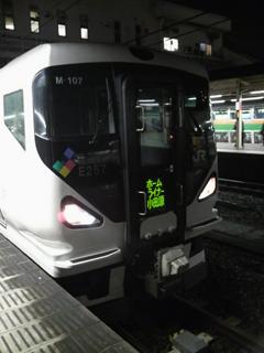 080107 ホームライナー小田原21号 E257系 茅ヶ崎駅にて