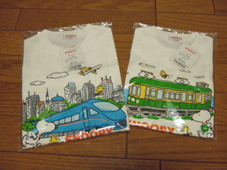 080511 小田急百貨店オリジナル「江ノ電」&スヌーピーTシャツ第3弾