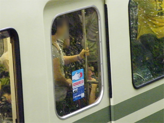 20110619 [江ノ電][Rail] 銀色の客用ドア窓押さえ、増殖中:ついに2000形も  (1001F)
