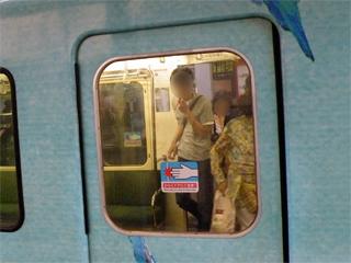 20110625 江ノ電1101F客用ドア窓が金属枠支持に変更