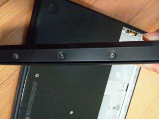 20110810 [Mac&PC] MacBook(Early2008 MB404J/A)のバッテリが膨張、クリックできなくなる
