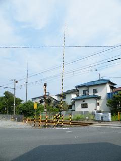 電鈴踏切@岳南鉄道岳南富士岡駅付近 富士岡県道踏切 20120630